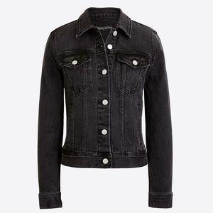 J Crew Black Denim Jacket Size S